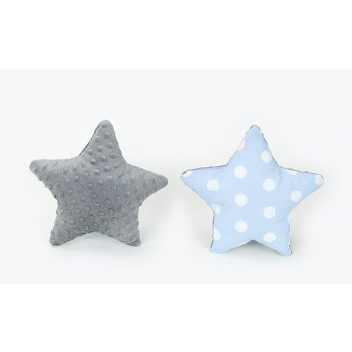 Dreamy csillag formapárna - Pöttyös kék szürke minkyvel