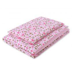 Babaágynemű szett 2 részes huzat - Rózsaszín pillangók