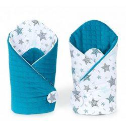 Velvet steppelt pólya - Csillagmix kék steppelt velvettel