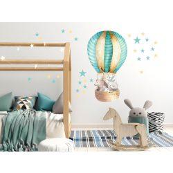 Falmatrica - Pasztell hegyek léggömbökkel és felhőkkel XXL méret