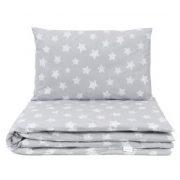 Dreamy babaágynemű 2 részes huzat - Mini szürke csillagok
