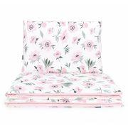 Dreamy gyerek ágynemű 100x135cm 2 részes huzat - Virágok ekrü