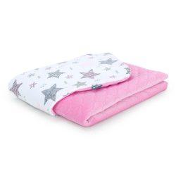 Steppelt bársonyos velvet takaró - Csillagmix rózsaszín velvettel