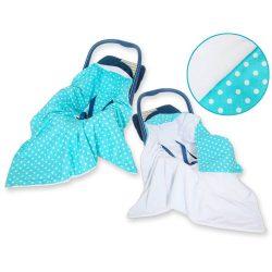 Harmony babaülés-és babakocsi takaró - Pöttyös türkiz