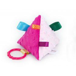 Piramis címkejáték - pink és rózsaszín minkyvel