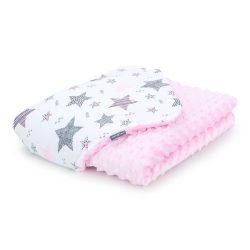 Dreamy minky babatakaró 75x100cm - Csillagmix rózsaszín minkyvel