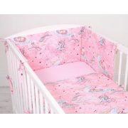 Harmony 3 részes babaágynemű - Unikornis rózsaszín