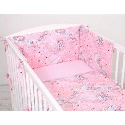 Harmony 3 részes 90x120cm babaágynemű szett - Unikornis rózsaszín