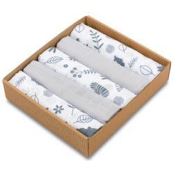 Pure 5 darabos muszlin pelenka csomag szürke erdei állatos
