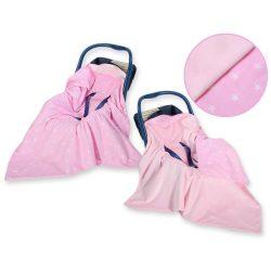 Babaülés-és babakocsi takaró - Csillagok rózsaszín