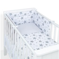 Dreamy 3 részes babaágynemű - Csillagmix szürke