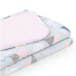 Dreamy babatakaró - Hattyú szürke rózsaszín velvettel