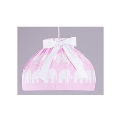 Dreamy babaszoba mennyezeti lámpa - Rózsaszín elefánt