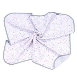 Dreamy muszlin babatakaró 80x100cm - Apró rózsaszín szívek