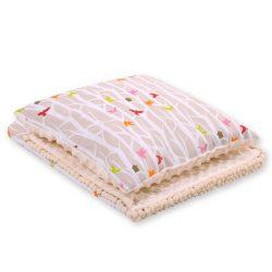 Minky takaró és párna szett  - Fa bézs