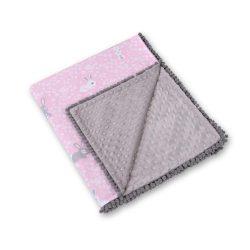 Minky takaró - Nyuszik rózsaszín