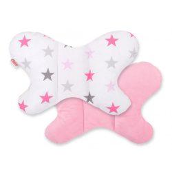 Harmony pillangó párna - Rózsaszín csillagok