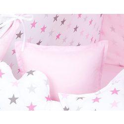 Dreamy formapárna négyzet alakú - Rózsaszín csillagok