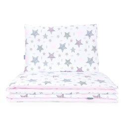 Dreamy babaágynemű 2 részes huzat - Csillagmix rózsaszín