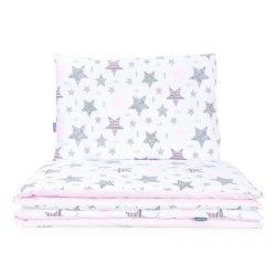 Dreamy babaágynemű 90x120cm 2 részes huzat - Csillagmix rózsaszín