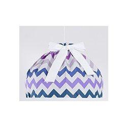 Babaszoba mennyezeti lámpa - Cikk cakk lila