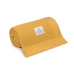 Best pamut kötött takaró - Mustár